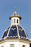 Dome of the Church of Altea. Royalty Free Stock Photos