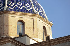 Dome of the Church of Altea. Royalty Free Stock Image
