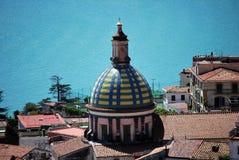 Dome church. In the Amalfi cost stock photo