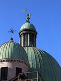 Dome of Church of the Barefoot in venice Stock Photo