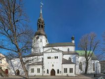 Dome Church in Tallinn, Estonia. Dome Church Cathedral of Saint Mary the Virgin on the Toompea Hill in Tallinn, Estonia. Originally established by Danes in the royalty free stock photography