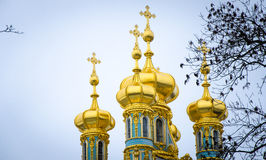 The dome of the Church of the Catherine Palace. Tsarskoye Selo. Stock Photos