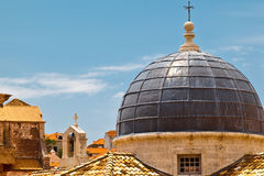 Dome of the Church in Dubrovnik Stock Image