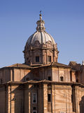 Dome of the church in Forum Romanum in Rome Royalty Free Stock Photography