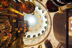 Dome in the church of the Holy Sepulchre Royalty Free Stock Image