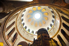 Dome in the church of the Holy Sepulchre Royalty Free Stock Photos