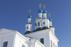 Dome of the church of Holy Trinity on the Green. Totma, Vologda Region, Russia stock photo
