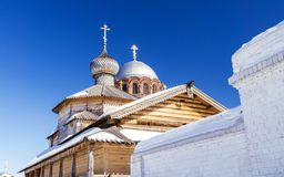 The dome of the Church of the Holy Trinity in Sviyazhsk. The dome of the Church of the Holy Trinity in winter Sviyazhsk stock photography