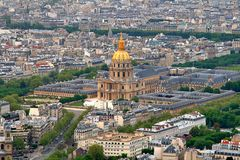 Dome Church at Les Invalides. The beautiful Dome Church at Les Invalides in Paris, France royalty free stock photography