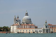 Dome of the Church of the madonna della salute in the basin of S Stock Photos