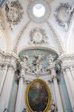 Dome of the church with marble sculptures and paintings of saints icons in Basilica di San Giovanni in Laterano in Rome, capital o Royalty Free Stock Images