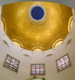 The Dome of the Church of Mount of Beatitudes in Israel. SEA OF GALILEE, ISRAEL - MAY 15: The Dome interior of the Church of Mount of Beatitudes near Sea of royalty free stock photo