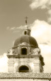Dome of a church, old fashioned sepia hue Stock Photos