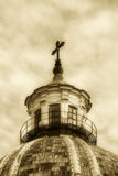 Dome of a church, old fashioned sepia hue Stock Images