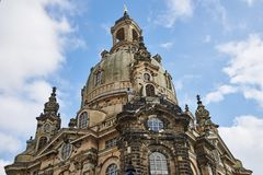Dome of the Church of Our Lady Frauenkirche in Dresden, German. The dome of the Church of Our Lady Frauenkirche in the historic centre of Dresden, Germany Stock Photos
