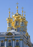 The dome of the Church of the resurrection of Christ. Catherine Palace, Tsarskoe Selo. Russia stock photos