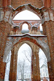 Dome church ruins. Dome Church ruins in winter, location Tartu (Estonia royalty free stock photography
