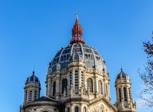 Dome of the church of Saint Augustin in Paris. Dome of the church of Saint Augustin - Paris, France. It is a Catholic church located at 46 boulevard Malesherbes royalty free stock images