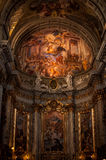 Dome of Church. Of Saint Ignatius of Loyola. Rome stock photography