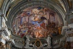Dome of church of Saint Ignatius of Loyola. Rome, Stock Image