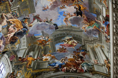 Dome of church of Saint Ignatius of Loyola. Rome, Royalty Free Stock Images