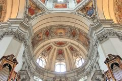 Dome in the church in Salzburg Royalty Free Stock Photo