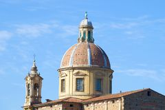 Dome of the Church of San Frediano in Cestello close-up. Florence, Italy Royalty Free Stock Photo