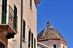 Dome of the church of San Michele, Alghero, Sardinia, Italy Stock Photography
