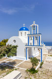 Dome church in Santorini Greece Stock Photo