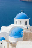 Dome church in Santorini Greece Stock Photos