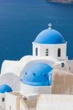 Dome church in Santorini Greece Stock Photos
