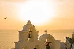 Dome church in Santorini Greece Royalty Free Stock Photo