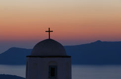 Dome of church on Santorini Stock Images