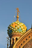 Dome of Church of the Savior on Spilled Blood. Royalty Free Stock Image