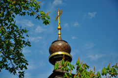 Dome of the church. On a sky background royalty free stock photography