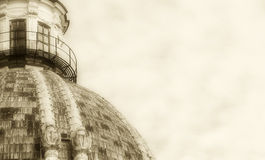 Dome of a church, space for text on the right Royalty Free Stock Photos