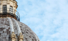Dome of a church, space for text on the right Royalty Free Stock Photo