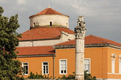 Dome of the Church of St. Donat. Zadar. Croatia Royalty Free Stock Image