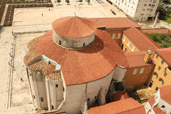 Dome of the Church of St. Donat. Zadar. Croatia Stock Photography