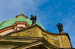 Dome of Church of St Francis Seraph Stock Images