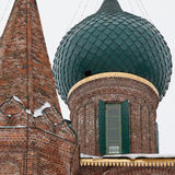 Dome of church. The Church Of St. John Chrysostom in winter. Golden Ring of Russia Stock Photos
