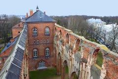 Dome Church in Tartu. Dome Church ruins in Tartu, Estonia. Tartu University History Museum in restored section stock image