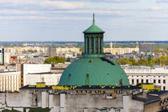 The dome of the church towering over the city Royalty Free Stock Images