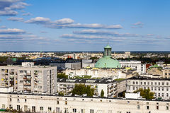 The dome of the church towering over the city Stock Photo