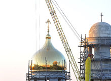 The dome of the church under construction Stock Image