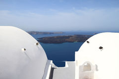 Dome of classical church of Santorini island Royalty Free Stock Image