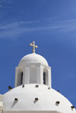 Dome of classical church of Santorini island Royalty Free Stock Photos
