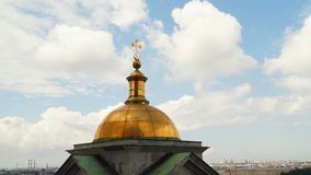 The dome of the colonnade of St. Isaac`s Cathedral stock footage