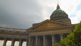 Dome and columns of the Kazan Cathedral in St. Petersburg. Russia stock video