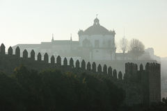 Dome and crenellated walls. Porto. Portugal Stock Photo